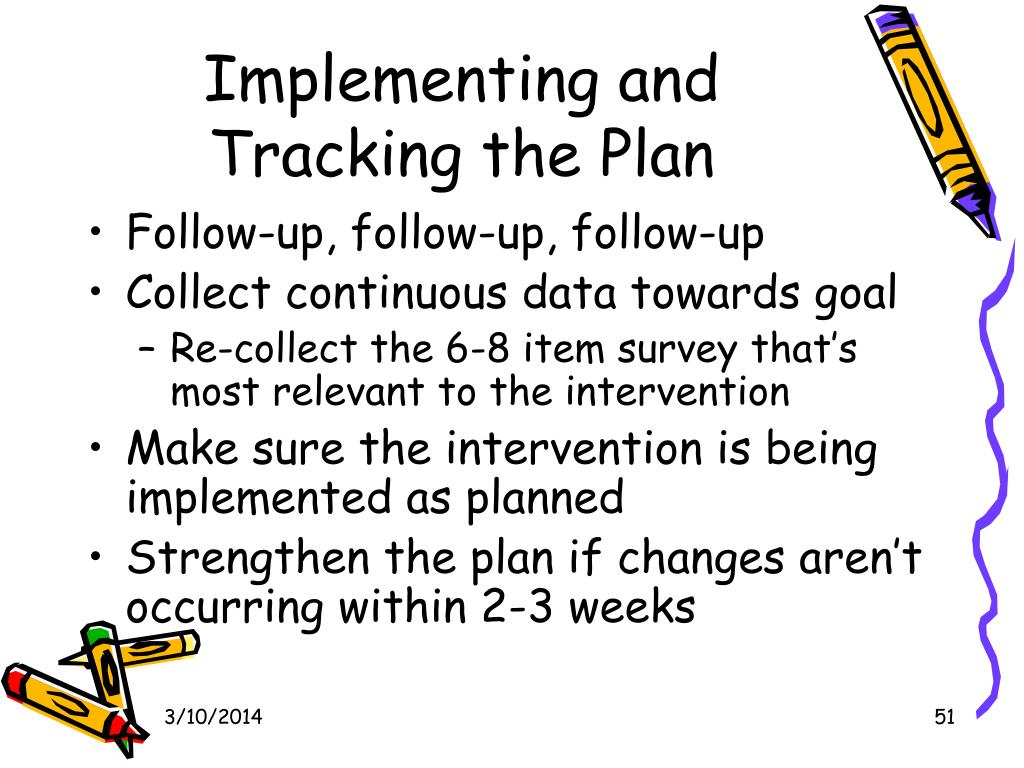 Implementing and Tracking the Plan