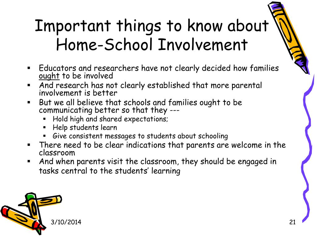 Important things to know about Home-School Involvement