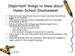 important things to know about home school involvement
