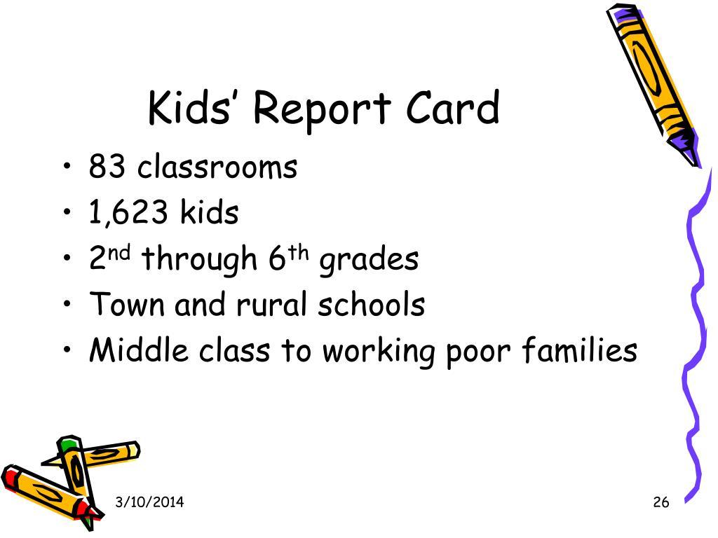 Kids' Report Card