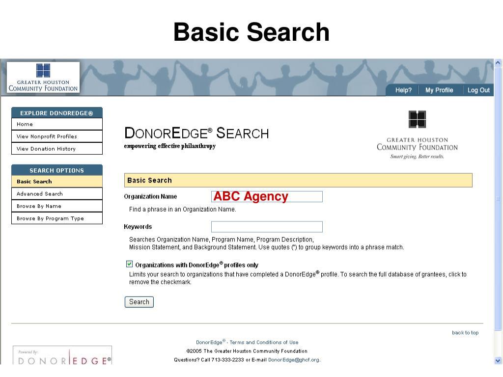 Basic Search