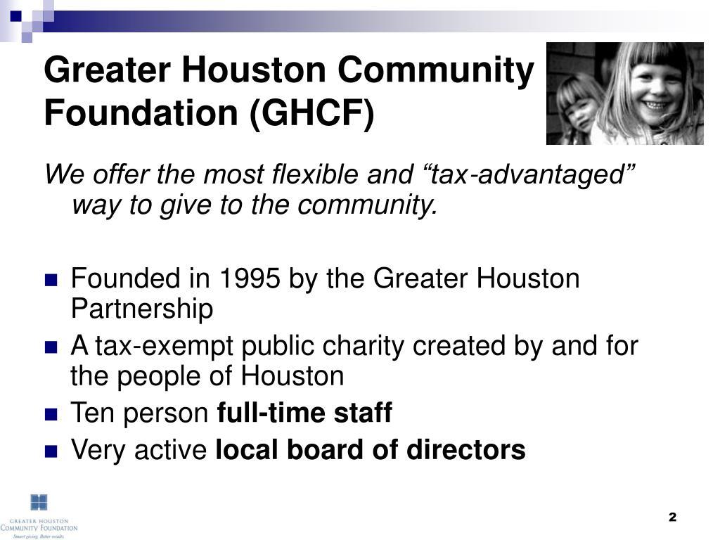 Greater Houston Community Foundation (GHCF)