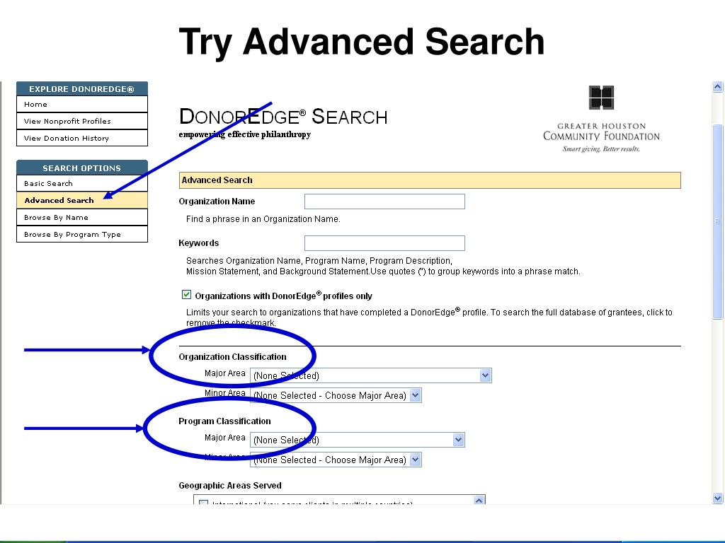 Try Advanced Search