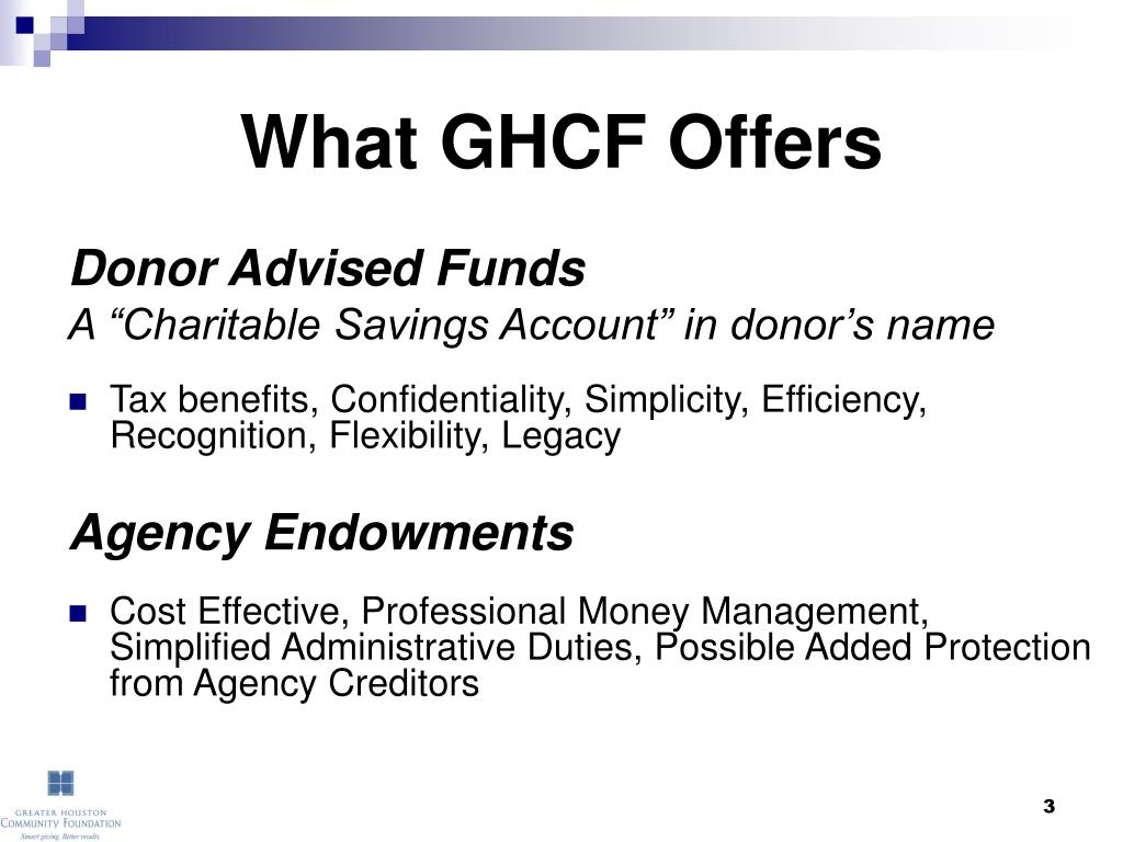 What GHCF Offers