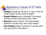 resistance issues of 9 traits16