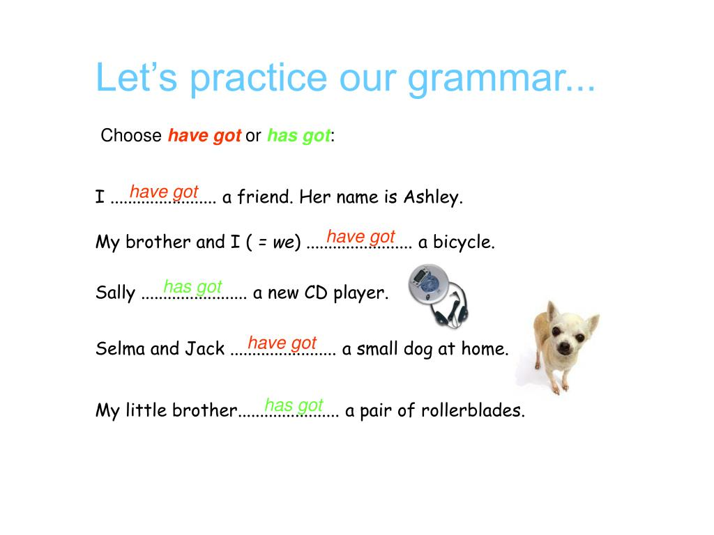 Let's practice our grammar...