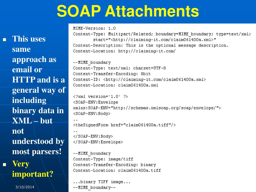 SOAP Attachments