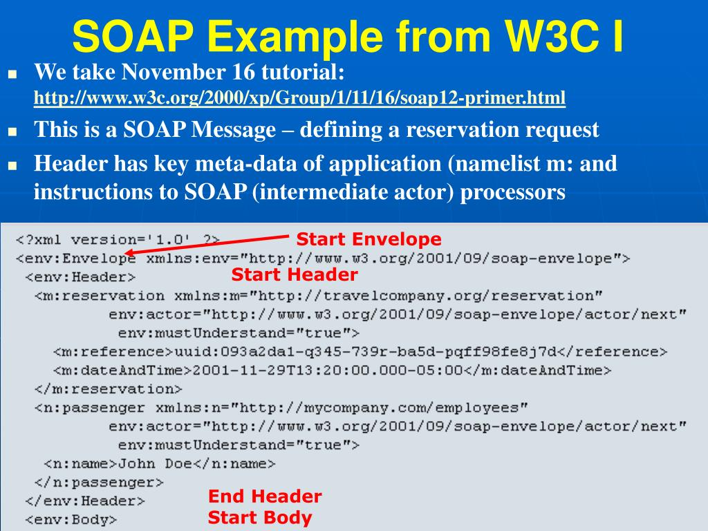 SOAP Example from W3C I