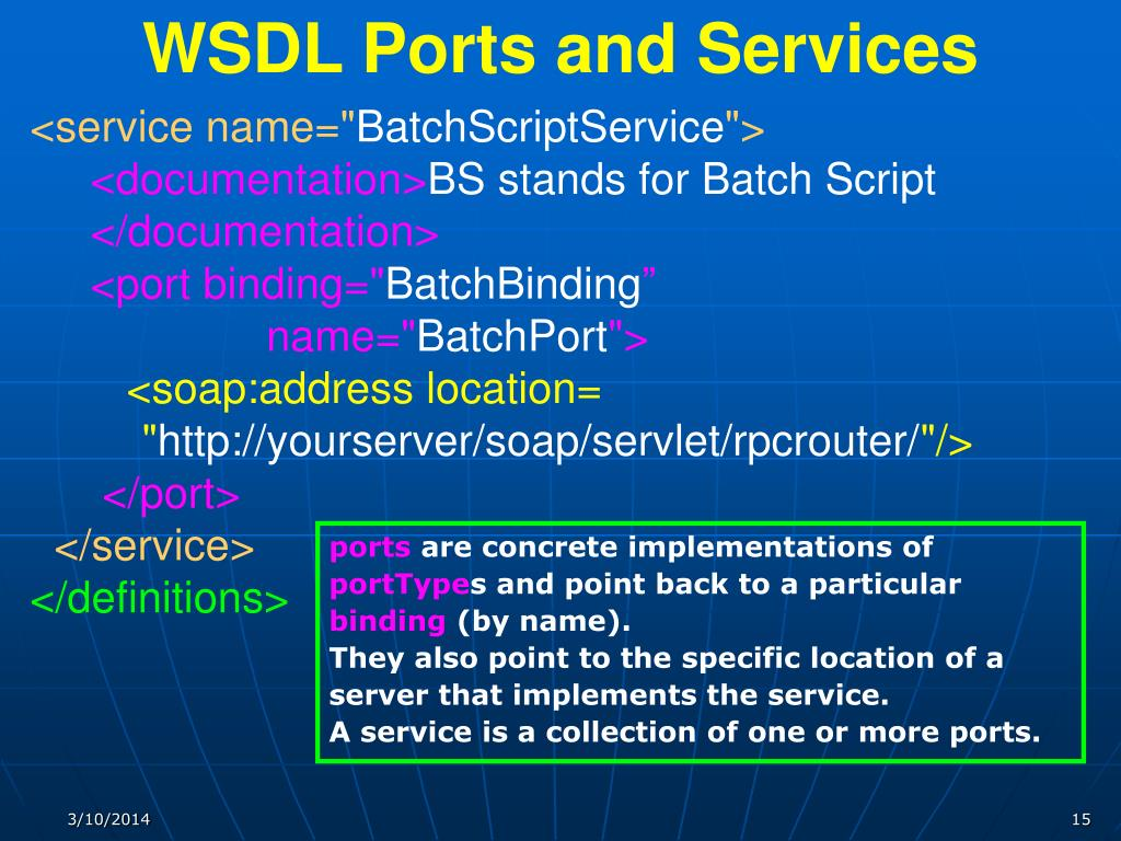 WSDL Ports and Services