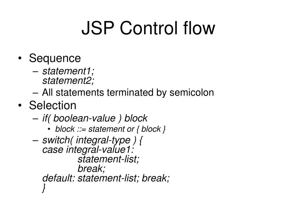 JSP Control flow