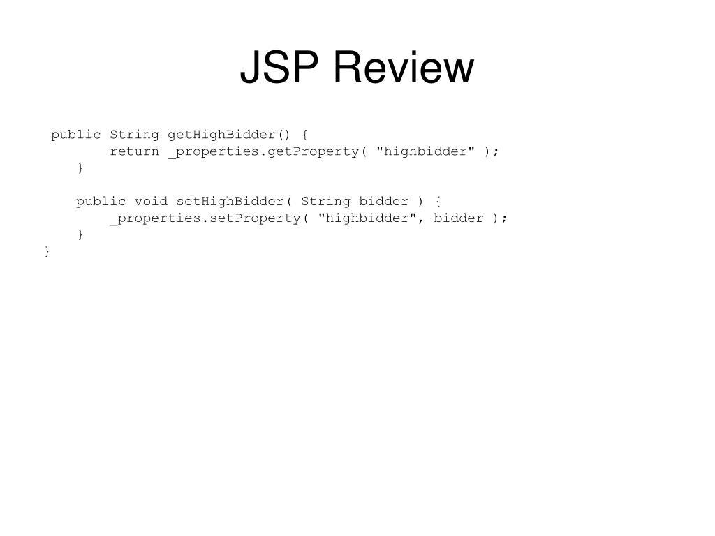 JSP Review