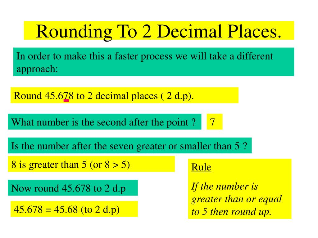 Ppt rounding numbers powerpoint presentation id752051 rounding to 2 decimal places lg 7 robcynllc Choice Image