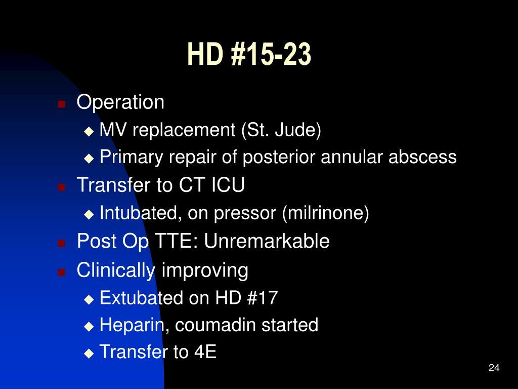HD #15-23