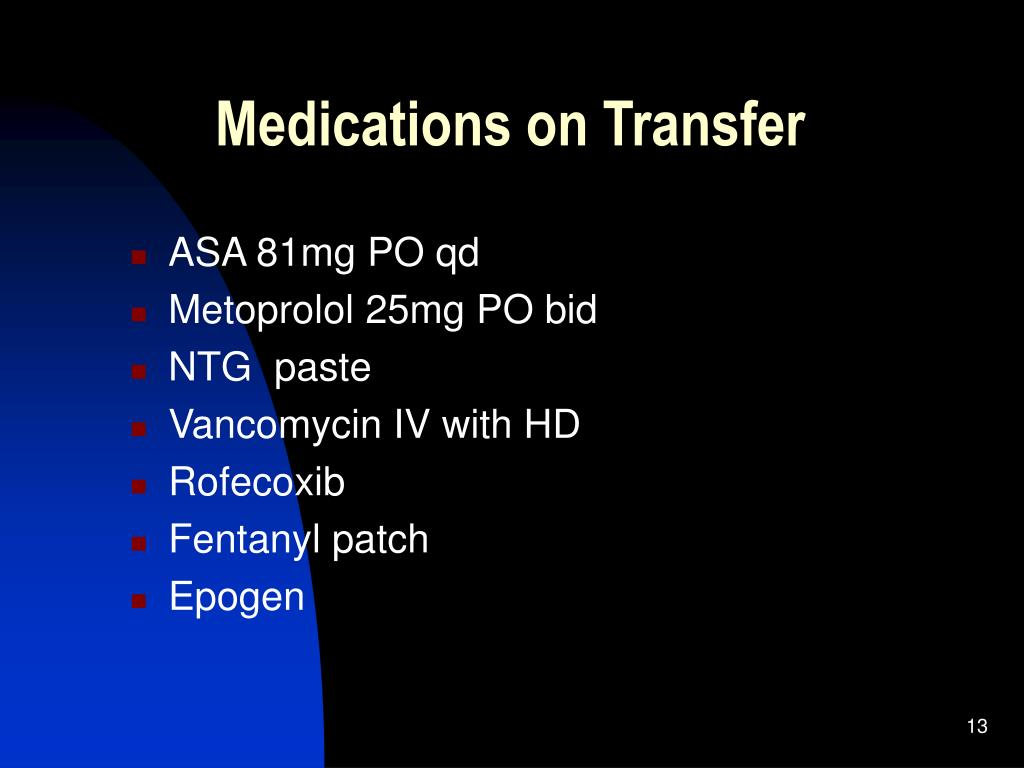 Medications on Transfer