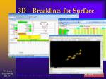 3d breaklines for surface