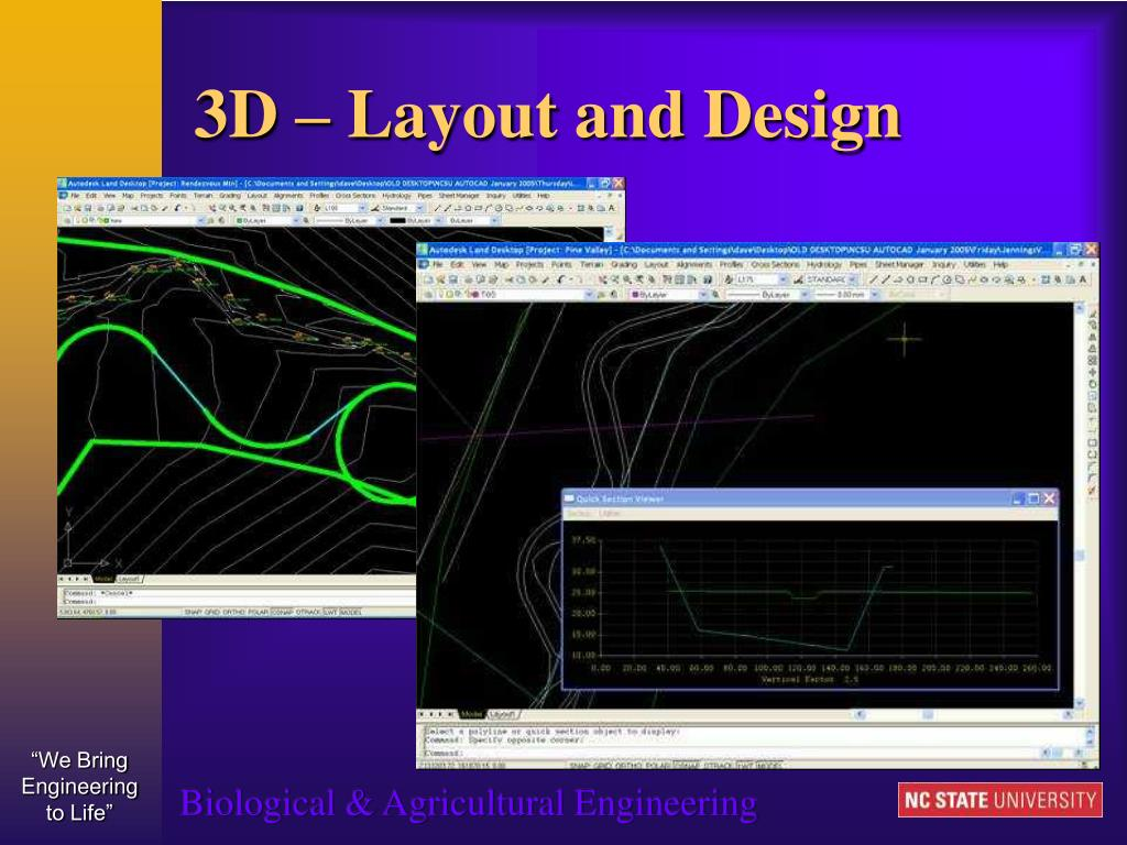 3D – Layout and Design