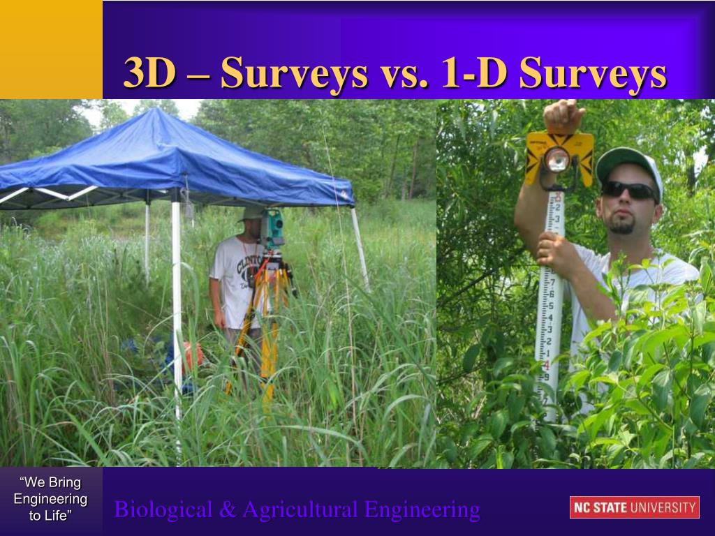 3D – Surveys vs. 1-D Surveys