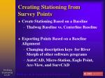 creating stationing from survey points