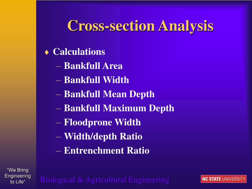 Cross-section Analysis