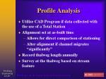 profile analysis
