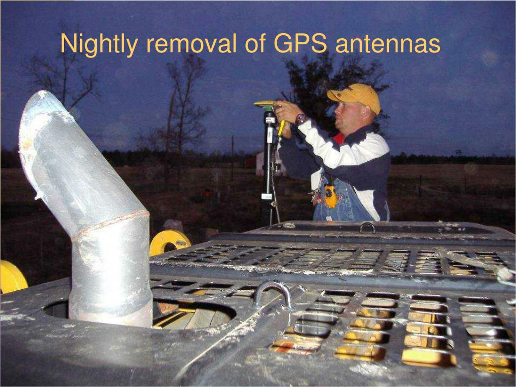 Nightly removal of GPS antennas