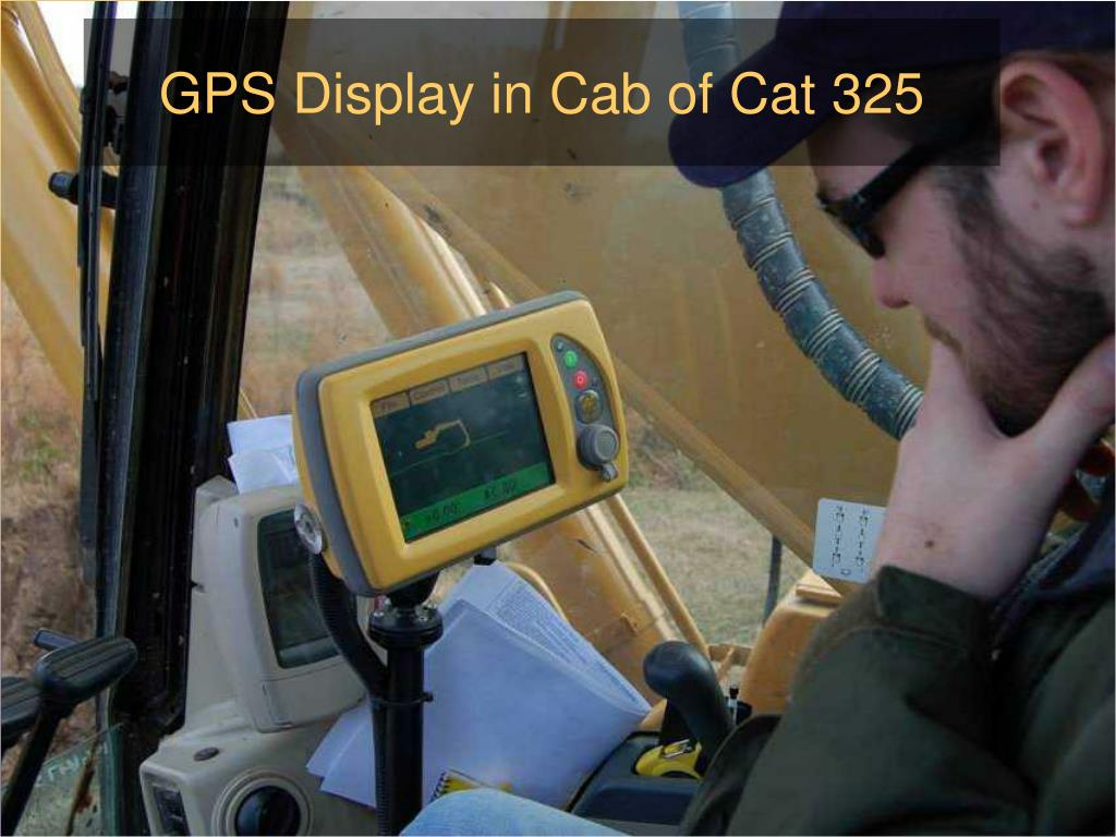 GPS Display in Cab of Cat 325