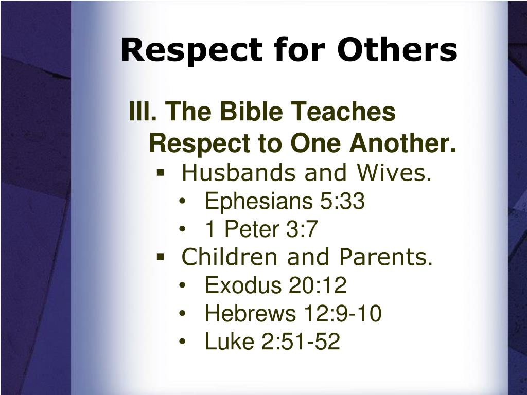 Respect for Others