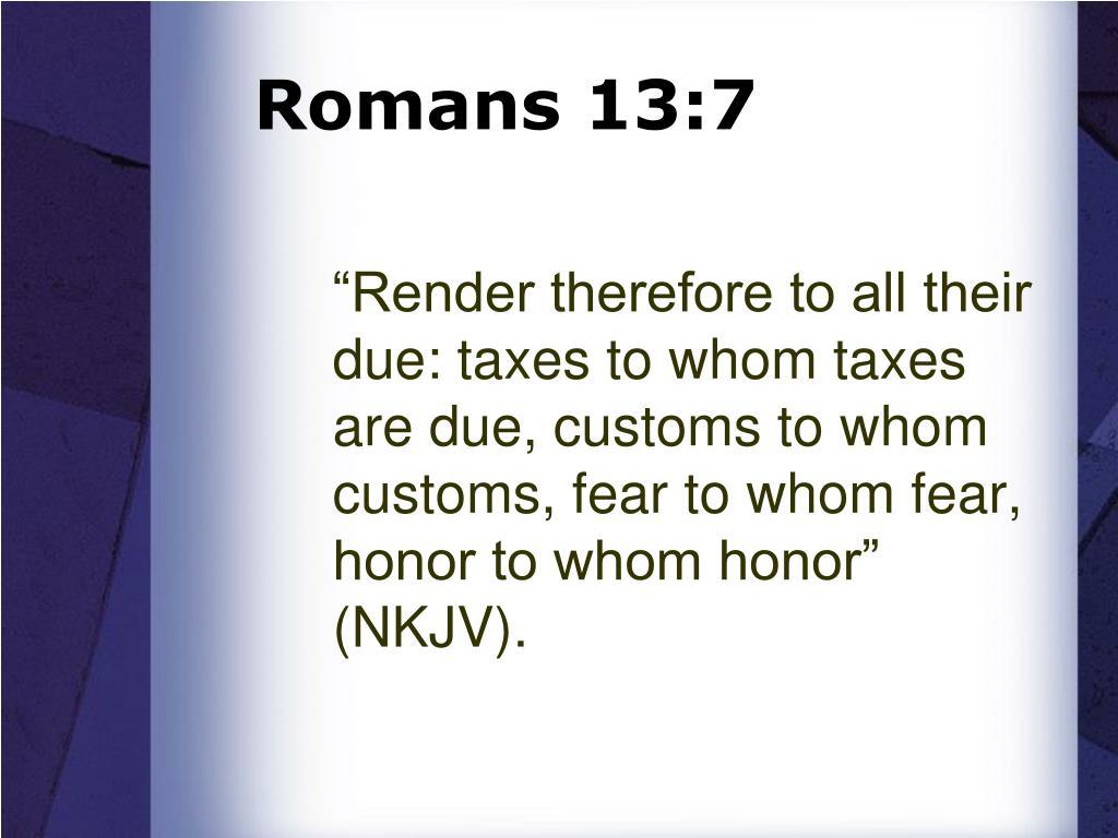 Romans 13:7
