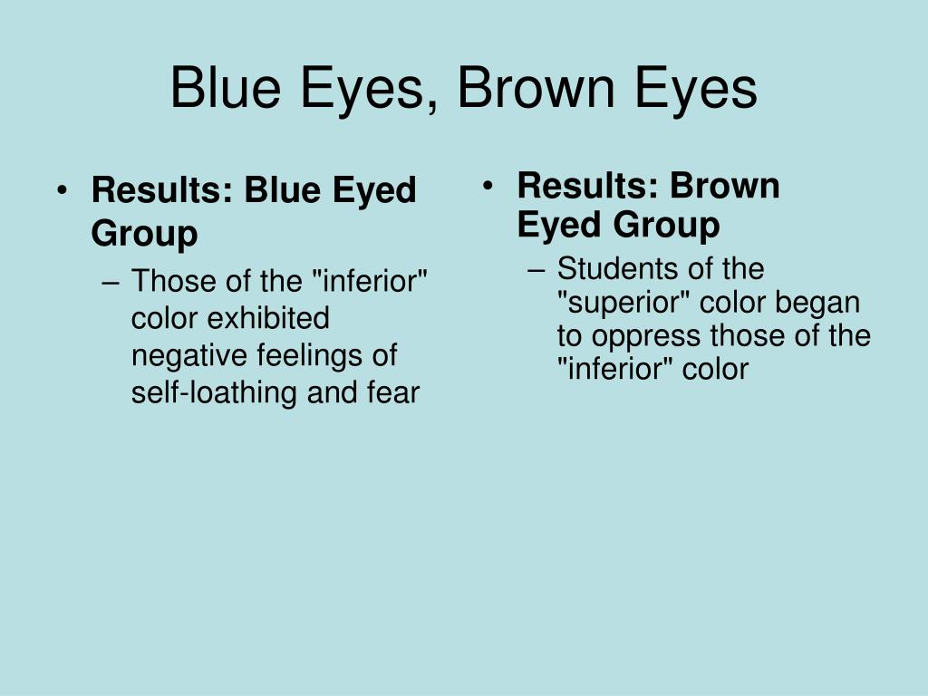Results: Blue Eyed Group