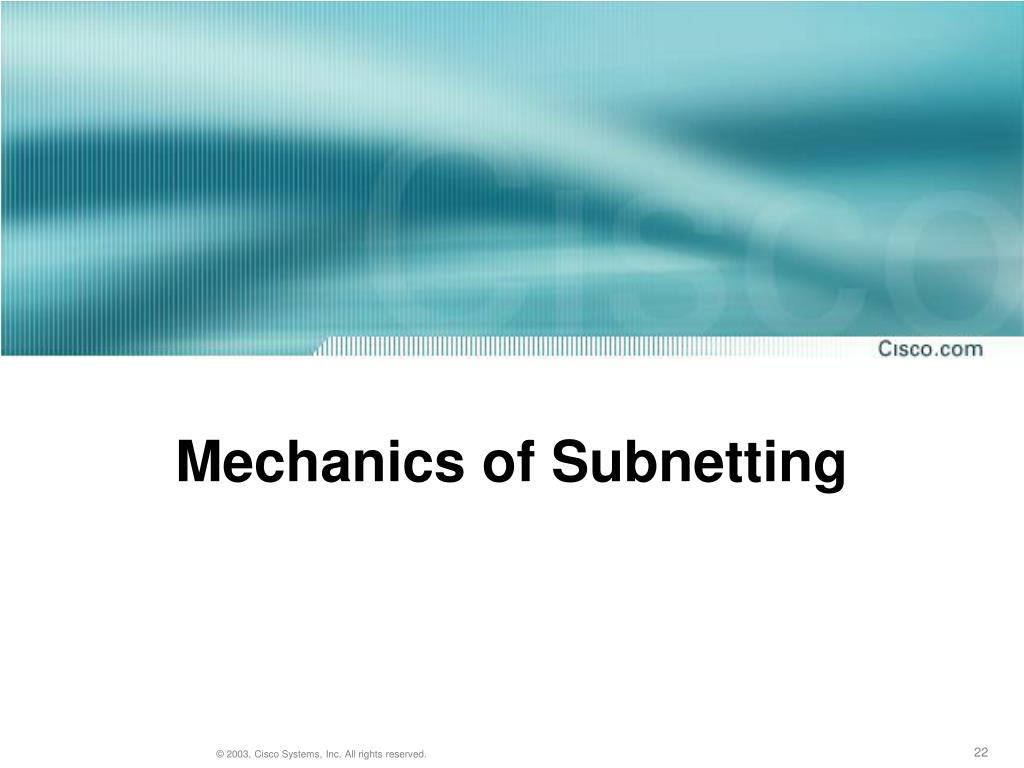 Mechanics of Subnetting