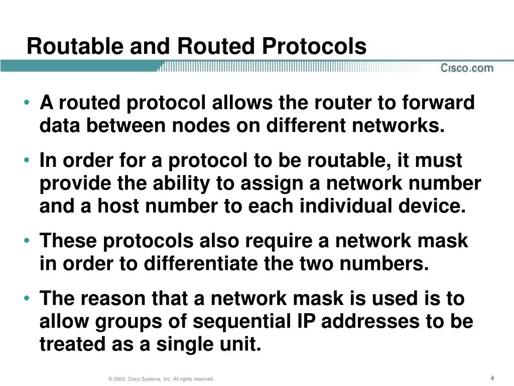 Routable and Routed Protocols