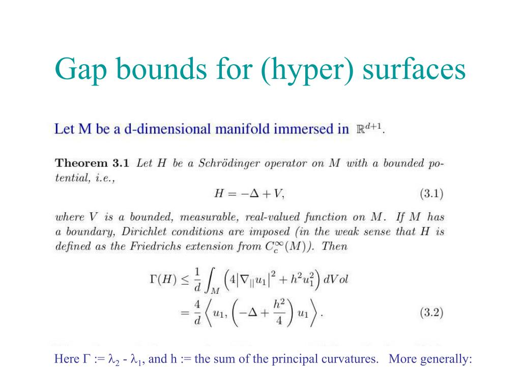 Gap bounds for (hyper) surfaces