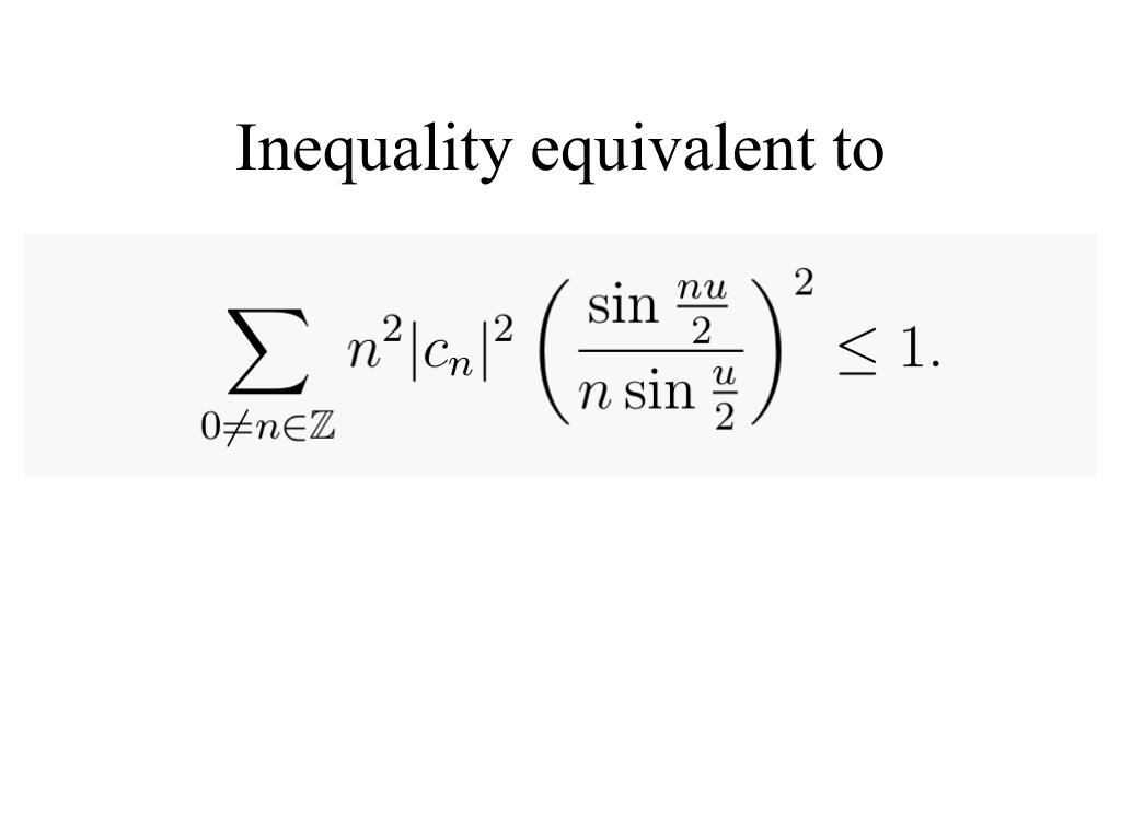 Inequality equivalent to