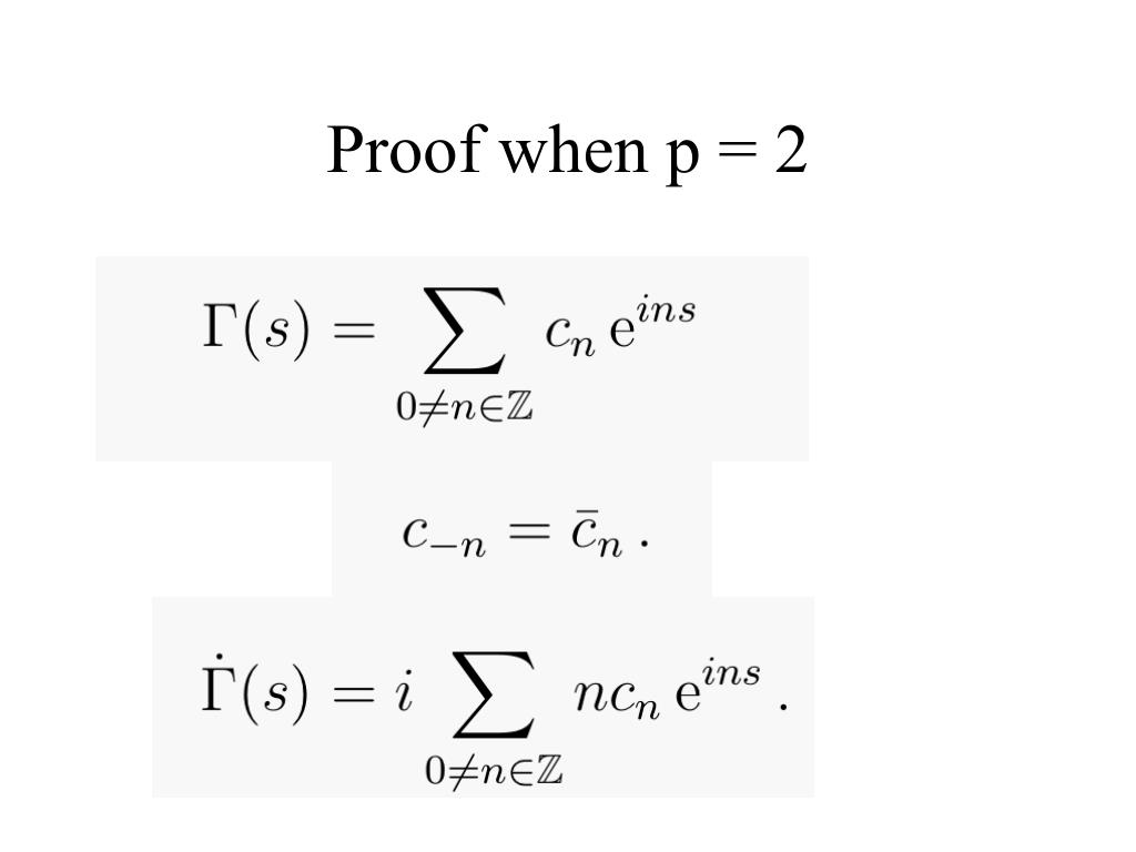 Proof when p = 2
