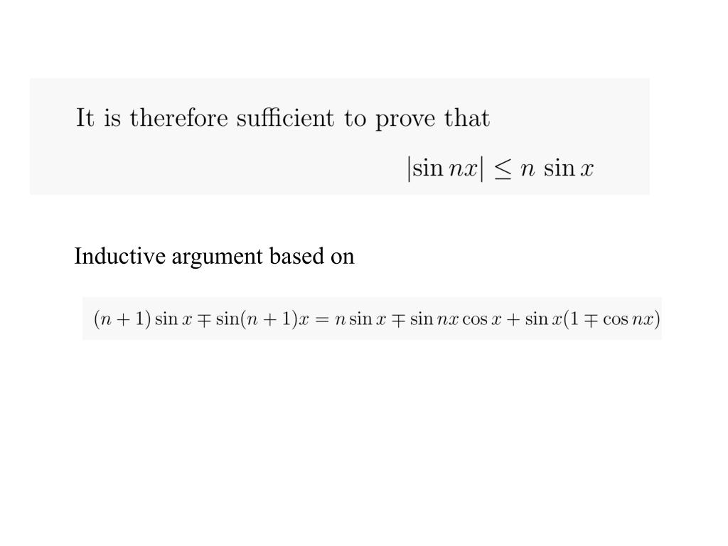 Inductive argument based on