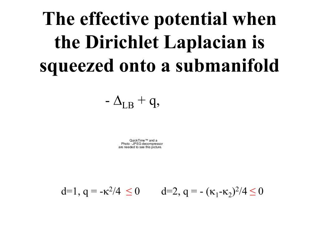 The effective potential when the Dirichlet Laplacian is squeezed onto a submanifold