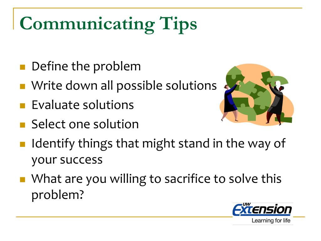 Communicating Tips