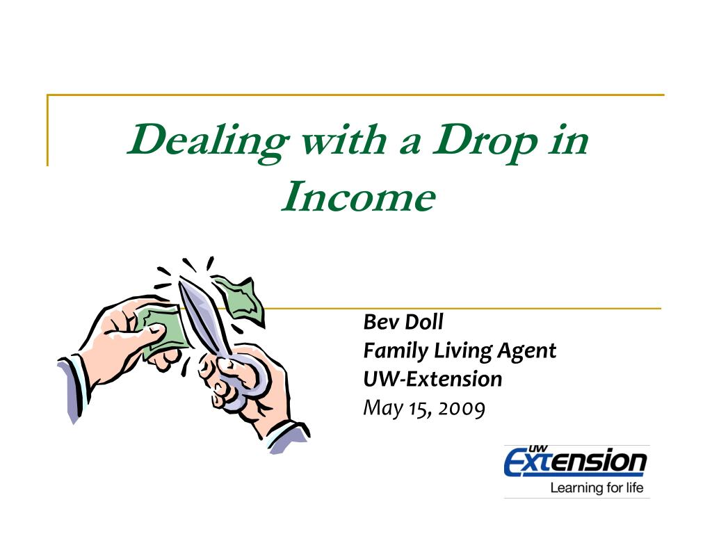 Dealing with a Drop in Income