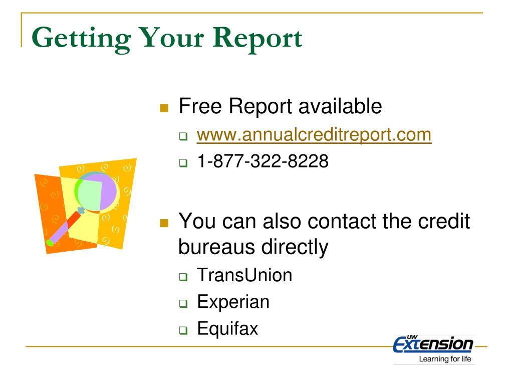 Getting Your Report