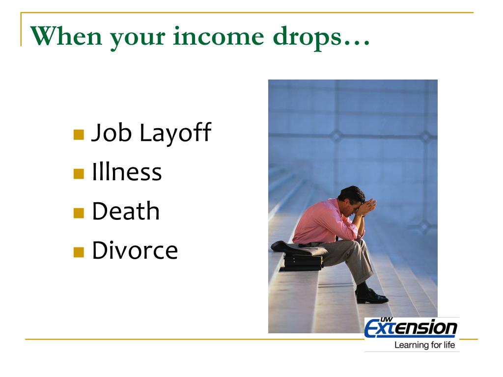 When your income drops…