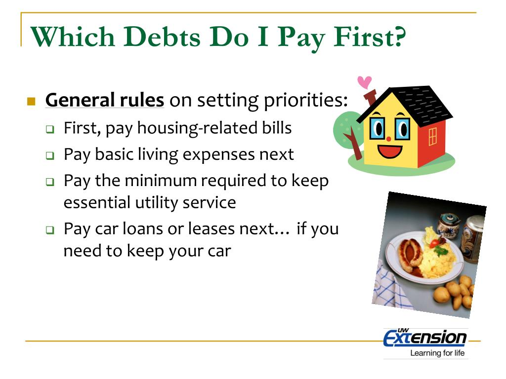 Which Debts Do I Pay First?