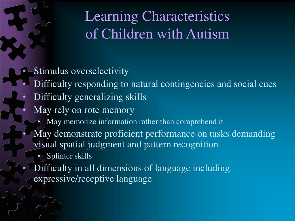 characteristics of a normalized child Adhd in children recognizing the signs and symptoms and getting help español it's normal for children to occasionally forget their homework, daydream during class, act without thinking, or get fidgety at the dinner table.