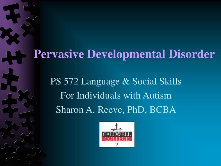 Pervasive developmental disorder