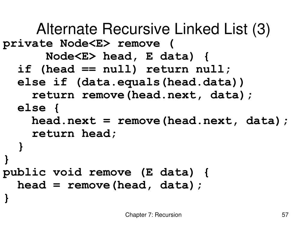 Alternate Recursive Linked List (3)