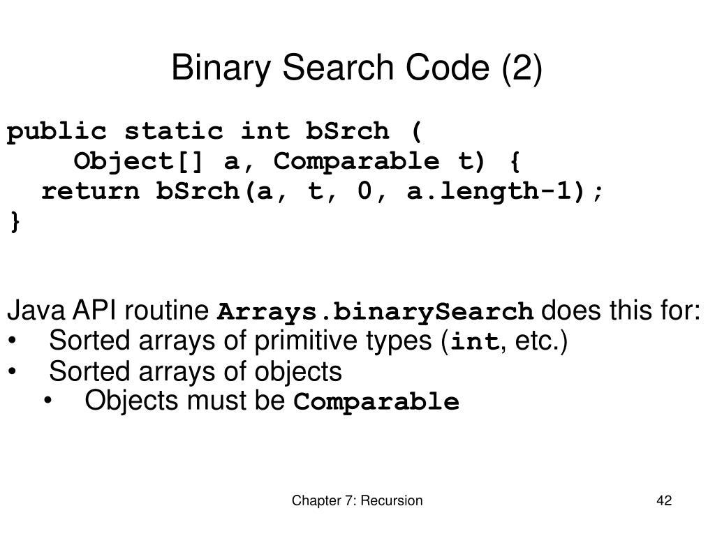Binary Search Code (2)