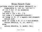 binary search code