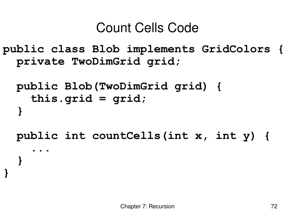 Count Cells Code