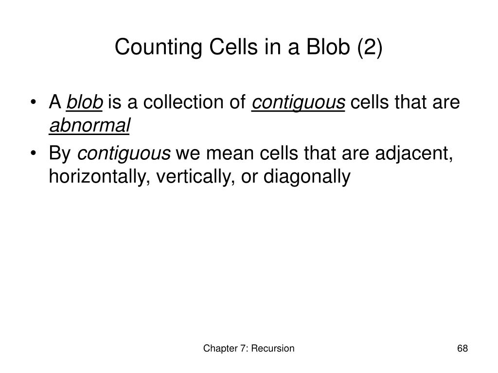 Counting Cells in a Blob (2)