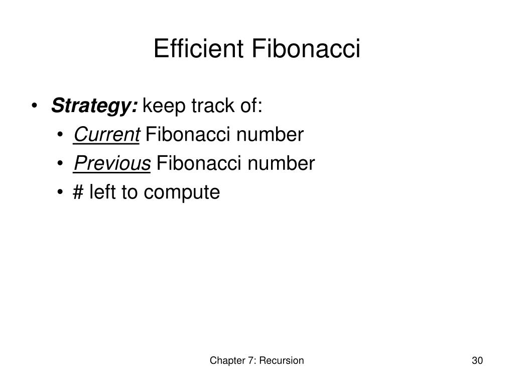 Efficient Fibonacci