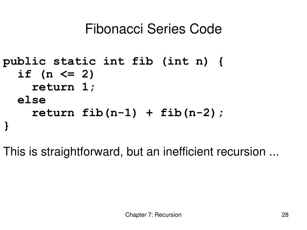 Fibonacci Series Code